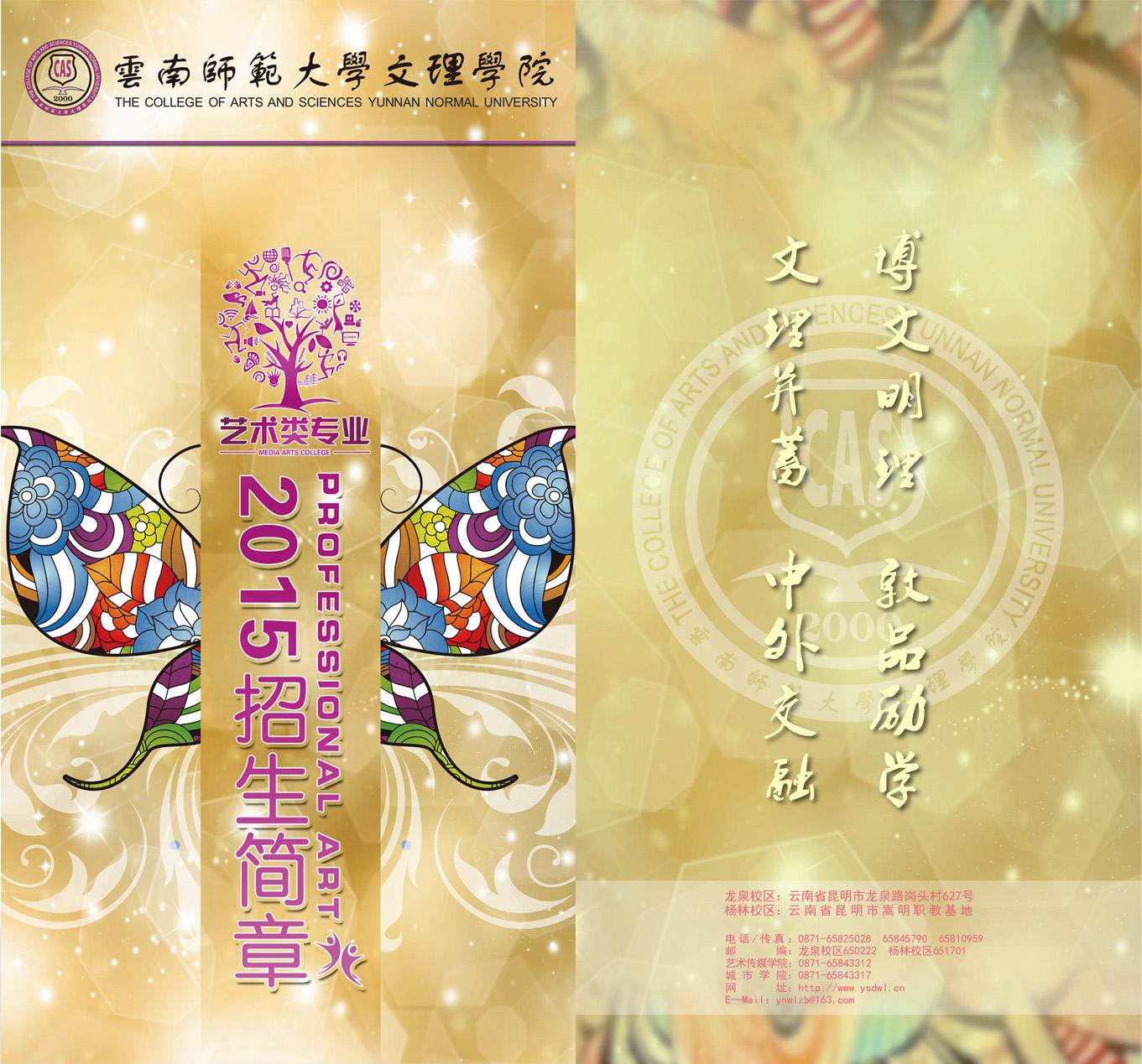 云南师范大学文理学院2015年艺术类招生简章